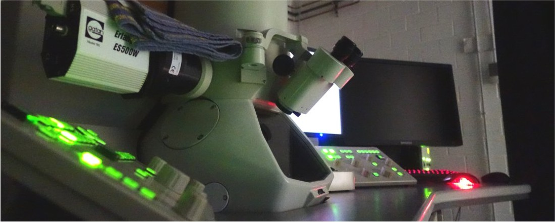 Banner Electronic microscope